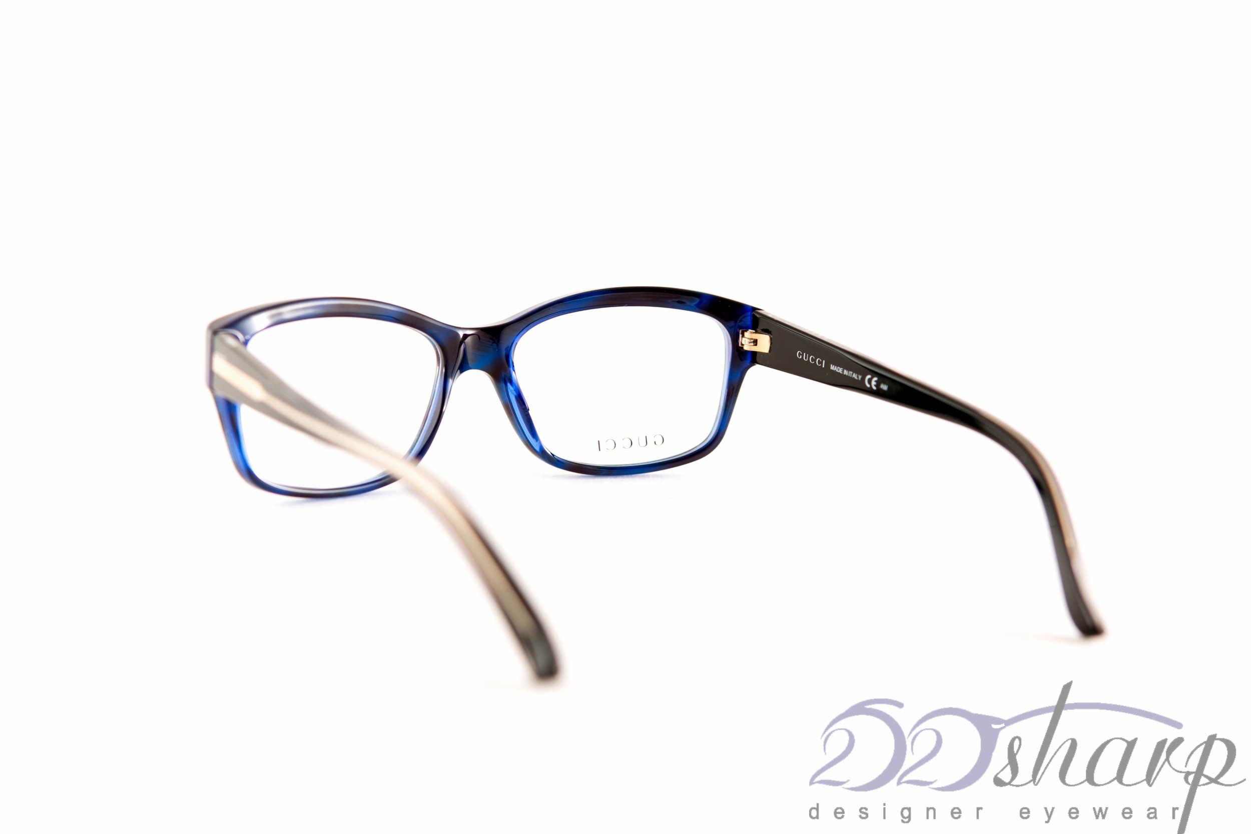 Big Blue Glasses Frames : Gucci Eyeglasses-GG 3205 Y0A Blue eBay