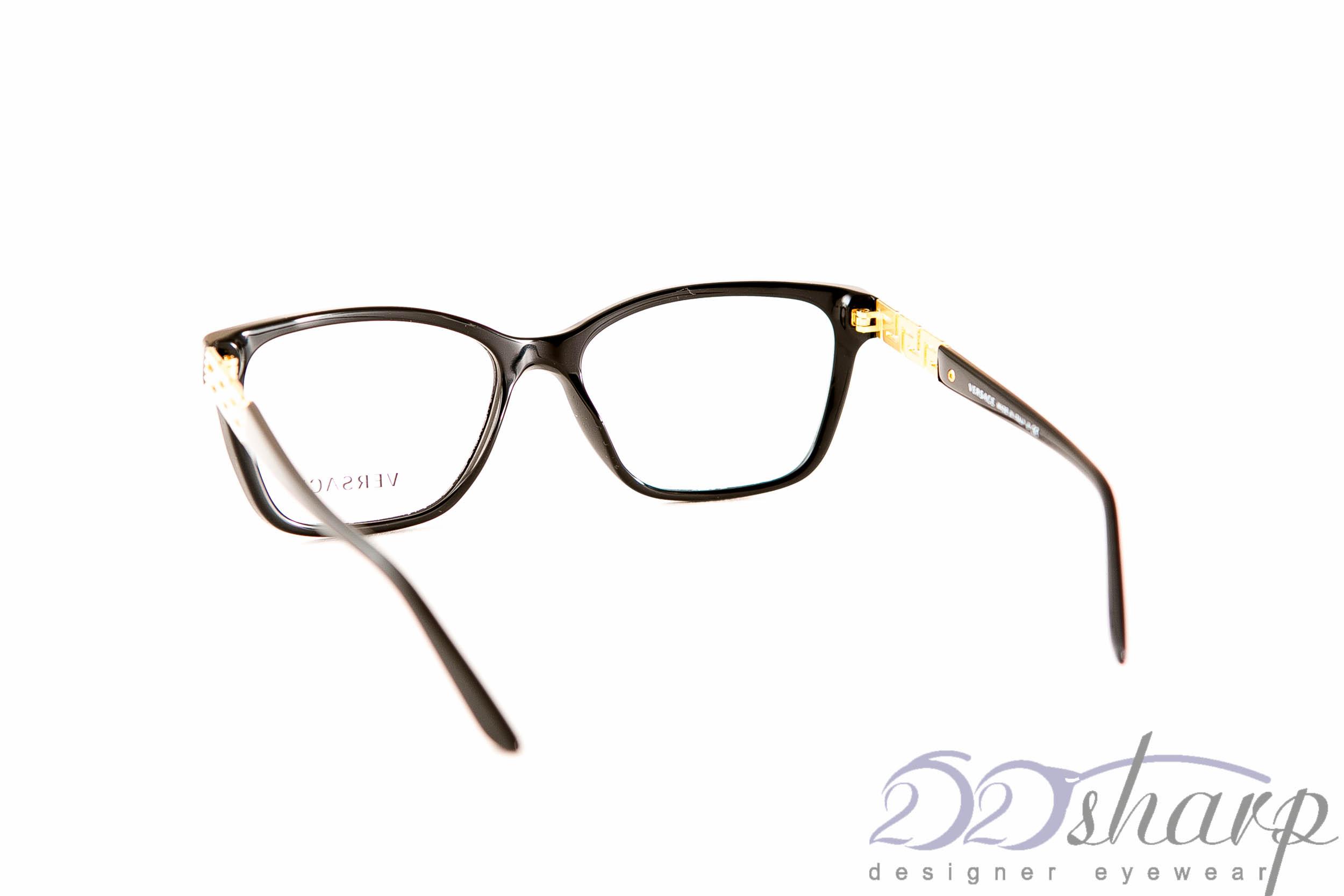Glasses Frames You Can Sleep In : Versace Eyeglasses-VERSACE 3192-B GB1 140 Black eBay