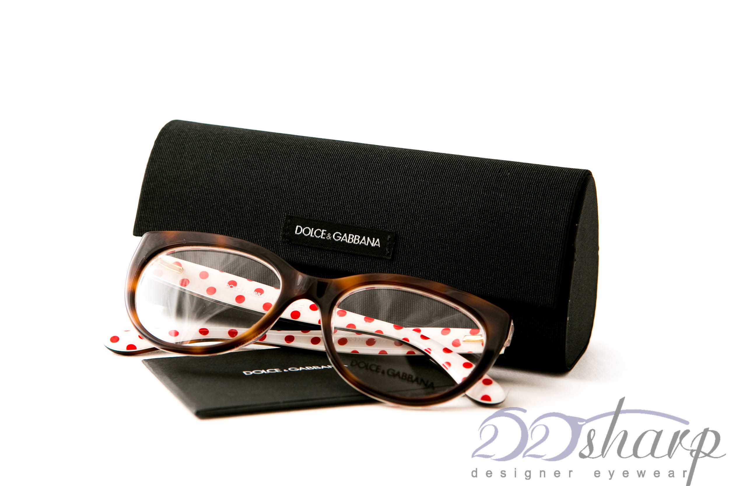 4f4b038d Details about Dolce Gabbana Eyeglasses-DG 3201 2872 Havana, white with red  dots