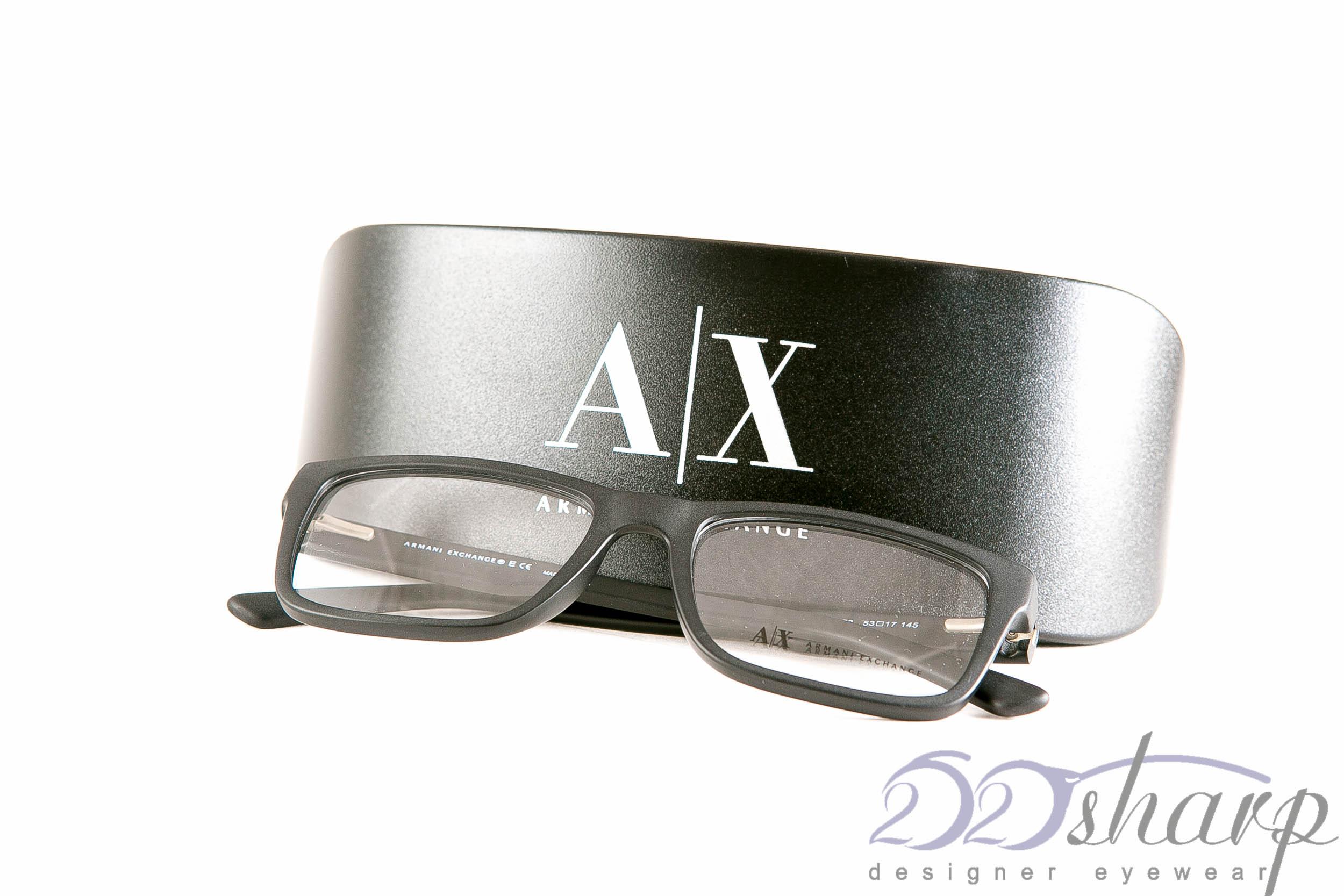 63066a53f7 Armani Exchange Eyeglasses-AX 3016 8078 MATTE BLACK
