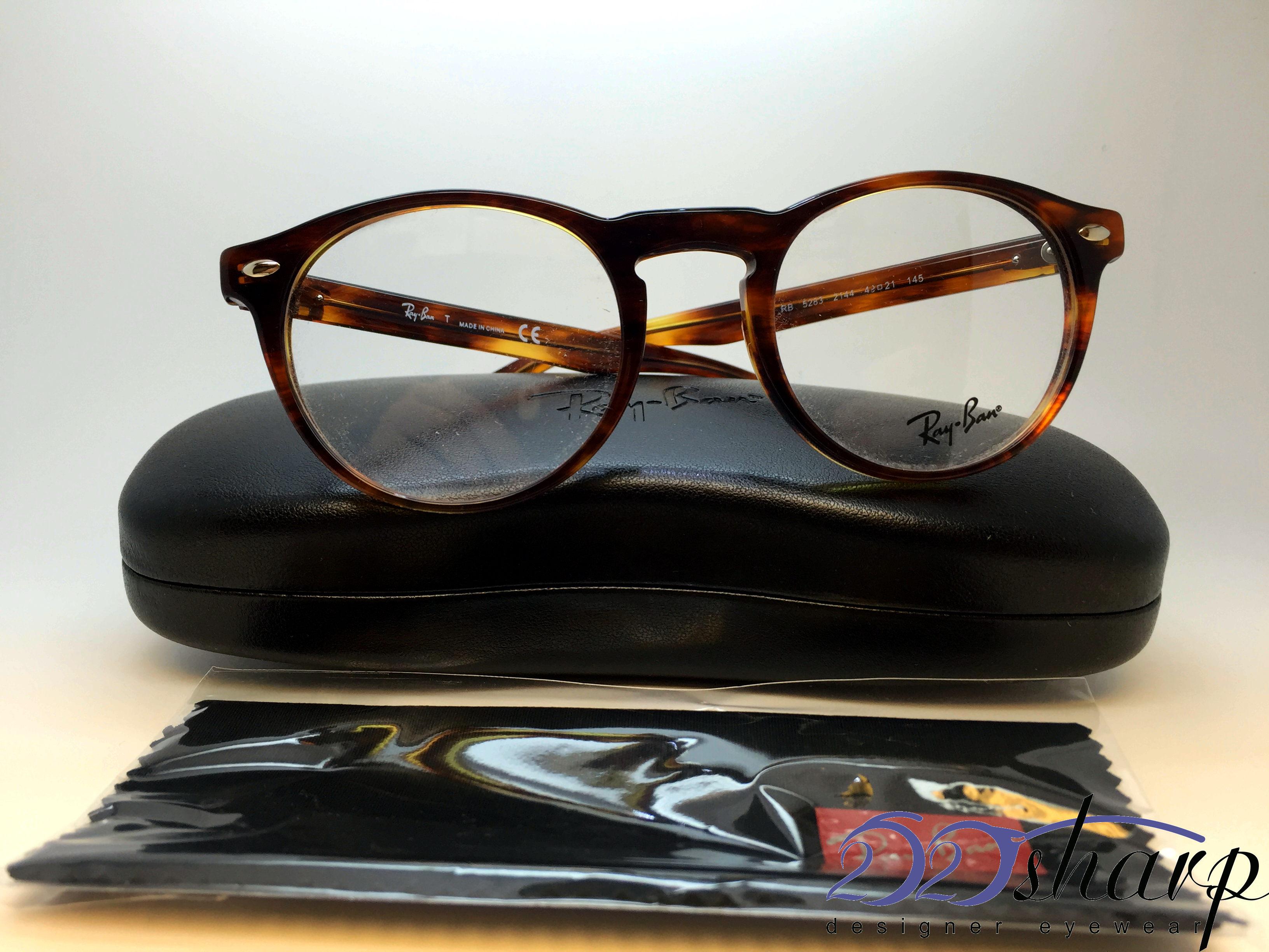 f82173b961e Ray Ban Eyeglasses-RB 5283 2144 49 Striped Havana