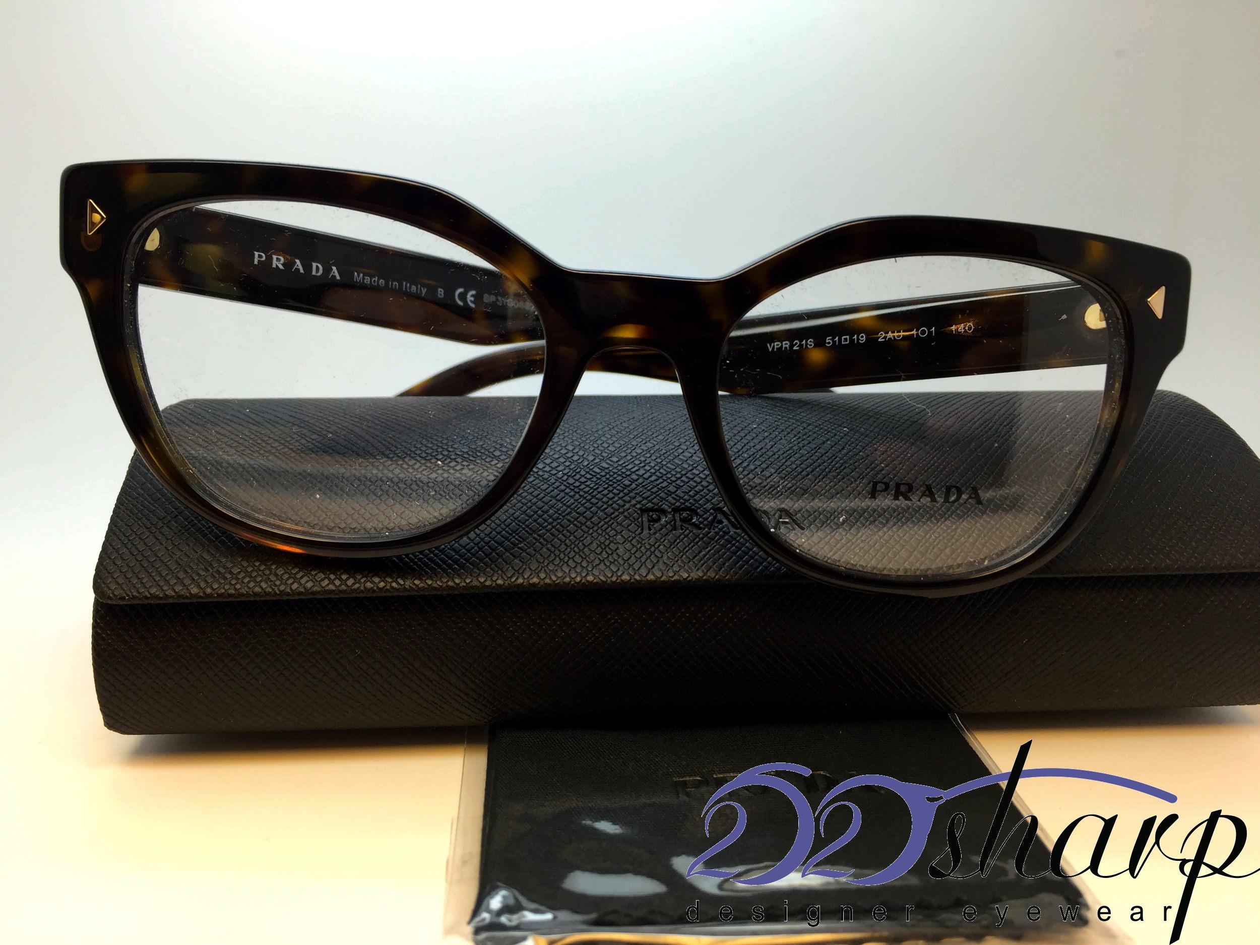 cf3980d29be1 Image is loading PRADA-Eyeglasses-VPR-21S-2AU-1O1-Havana